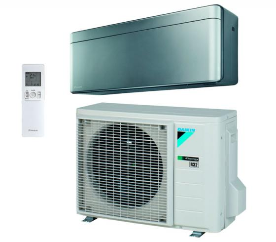 Aire acondicionado Daikin Stylish TXA25AS plata R-32